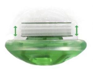 Mouvement de la valve expiratoire de la chambre d'inhalation TipsHaler