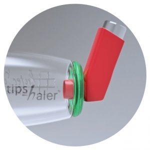 Adaptateur arrière de la chambre d'inhalation pour aérosol-doseur TipsHaler