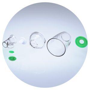 Chambre d'inhalation TipsHaler pour aérosol-doseur démontée